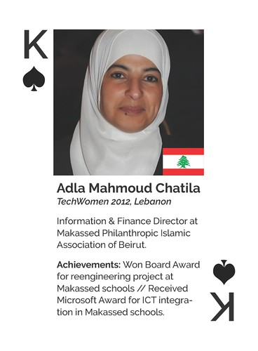Draft Card Design - Adla Mahmoud Chatila - Lebanon - TechWomen Emerging Leader