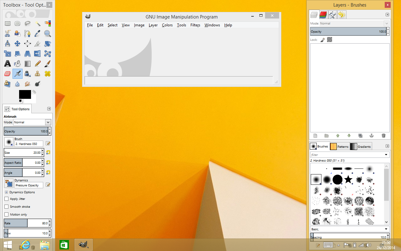 Running GIMP on Windows 8