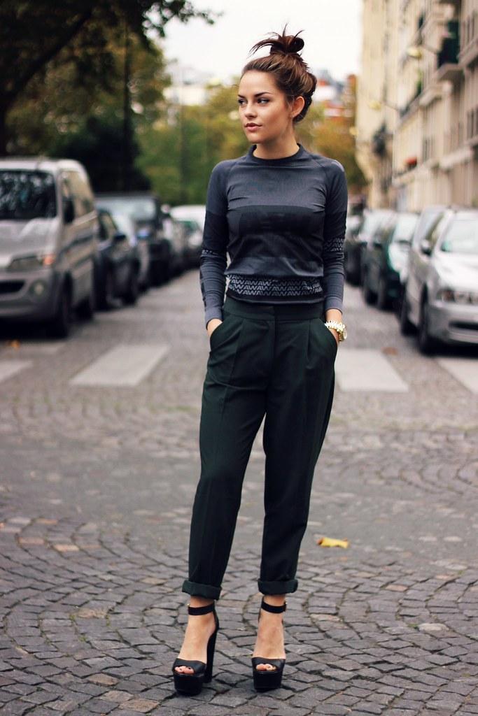 Alexander Wang for H&M grey stripe dress 1