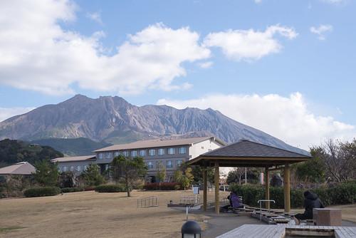 桜島溶岩なぎさ公園&足湯