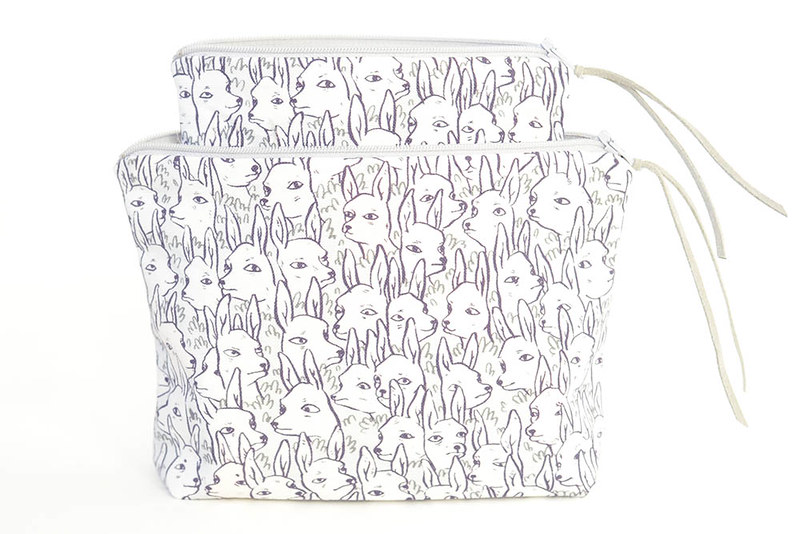 Deer Garden Boxy Pouches