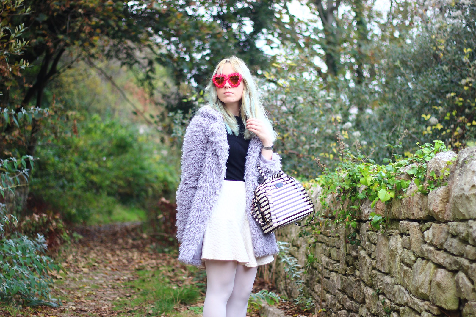 5heartglasses, pastel hair blogger, heart shaped sunglasses, style