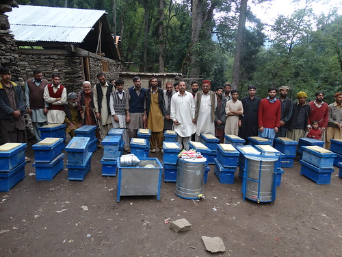 Group picture & distribution of bee hives and production kits (2)