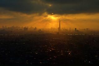 Tokyo Sky Tree and dusk