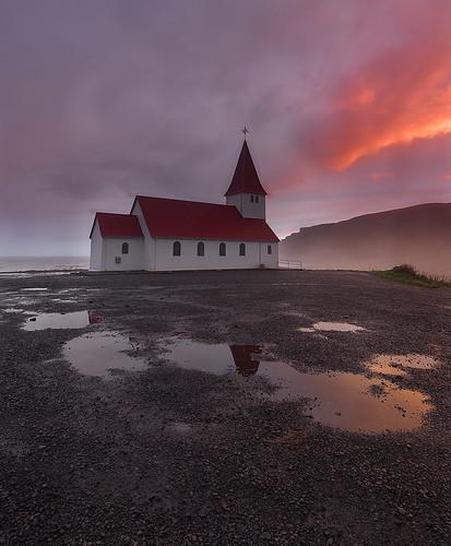 church zeiss landscape atardecer iceland islandia paisaje reflejos