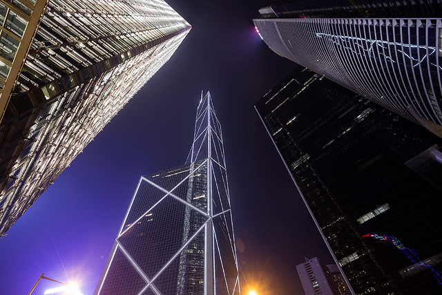 Skycrapers of Hong Kong.