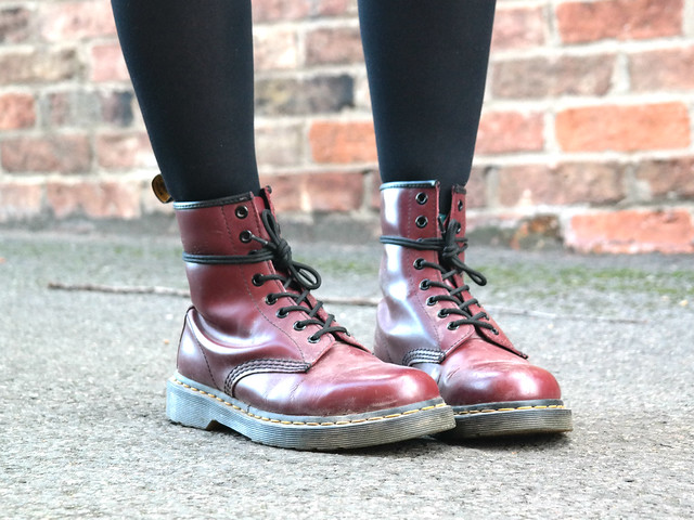 Dr Martens and denim fashion blogger