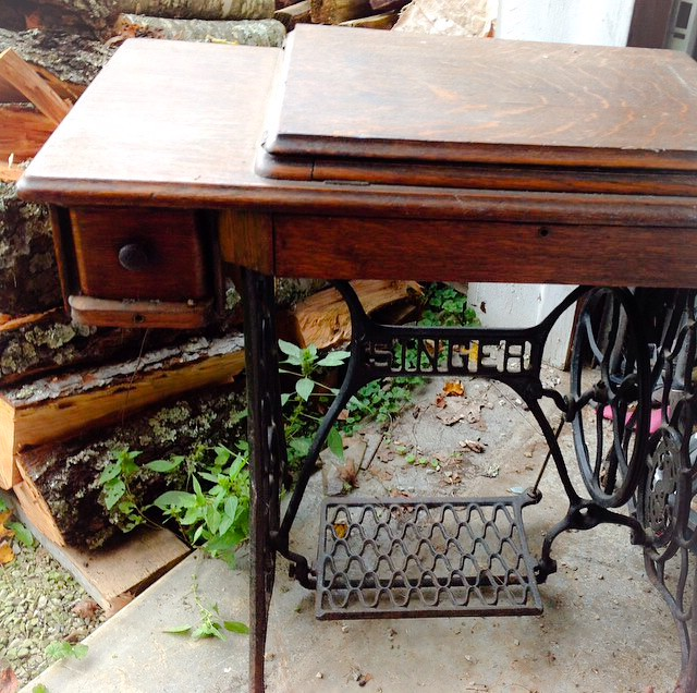 The Singer Treadle Table in Original Condition