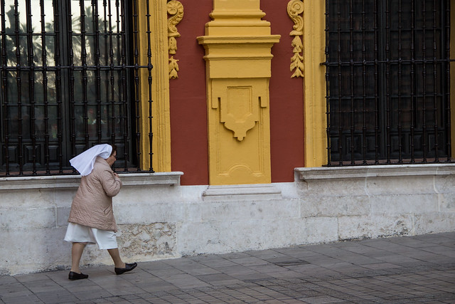 An Old Nun - Malaga - Spain