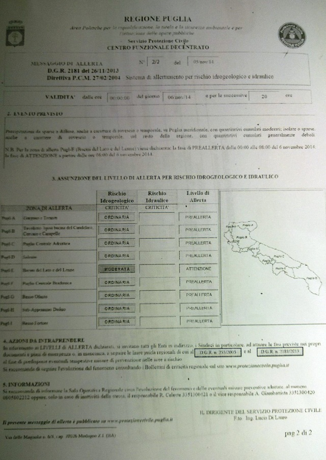 Noicattaro. Allerta Meteo 4
