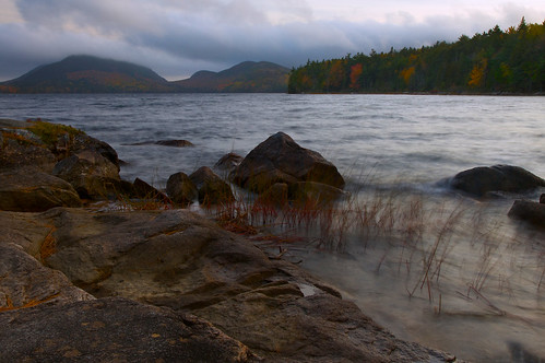 park longexposure autumn vacation lake mountains fall water forest landscape scenery colorful soft waves maine reservoir national shore bubble acadia acadianationalpark eaglelake