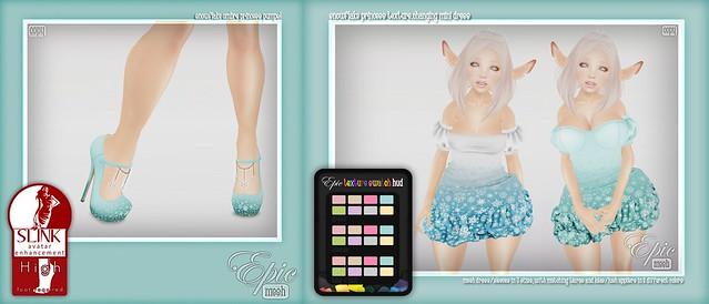 *Epic* Snowflake Princess Texture.Changing Mini Dress,  Snowflake Princess Tiaras & Snowflake Ombre Princess Pumps Ad!