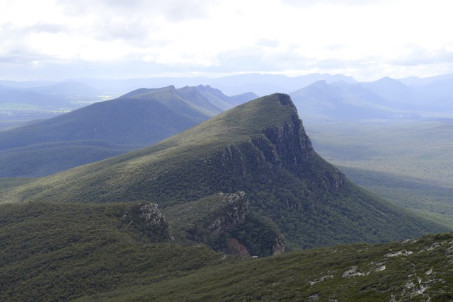 Signal Peak and the Serra Range of the Grampians National Park from Mount Abrupt