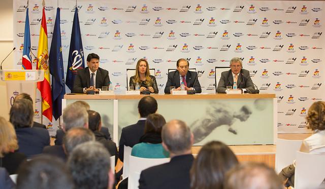 Presentación oficial del nuevo campeonato de Fórmula 4 en el consejo superior de deportes de Madrid.