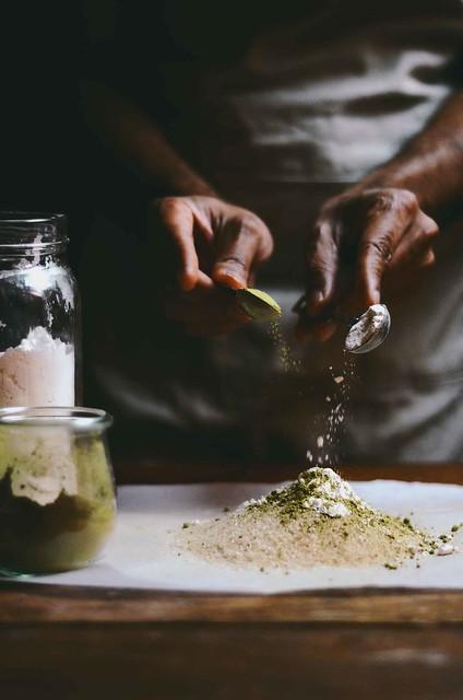 cinnamon and matcha rice pudding   A Brown Table