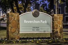 Reverchon Park Sign