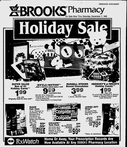 Brooks Pharmacy, December 1, 1991 (pittsburgh press)