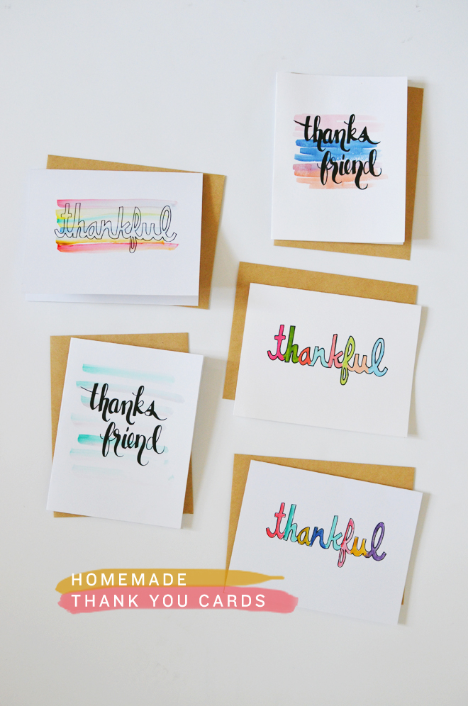 Diy Homemade Thank You Cards Cakies