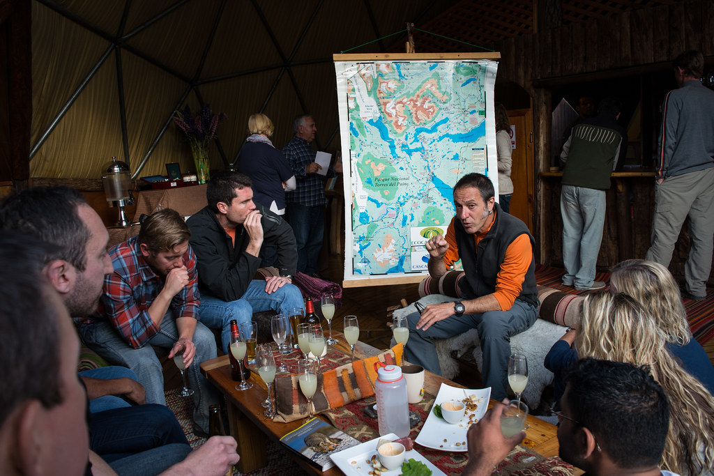 Briefing time at EcoCamp