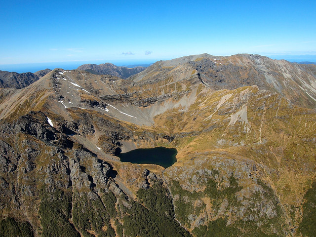 Flying over Kahurangi National Park