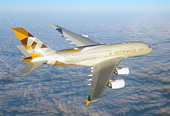 Etihad A380 en vuelo (Airbus)