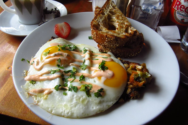 Hash and Eggs at City Girl Cafe, Cambridge