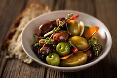 Olives with Balsamic Vinegar