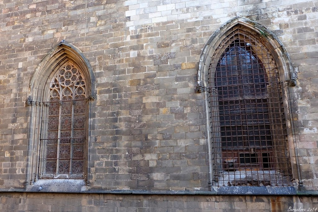 Barcelona day_1, Windows of Barcelona Cathedral