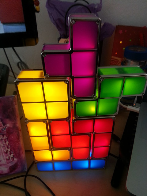 My new desk lamp, courtesy of Brandon!