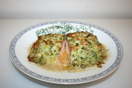 Salmon filet with potatoes & cheese / Lachsfilet in Kartoffel-Käse-Kruste - reloaded