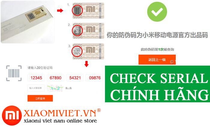 Check code để nhận biết pin dự phòng xiaomi fake hay chính hãng