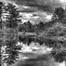 Mill pond BW HDR