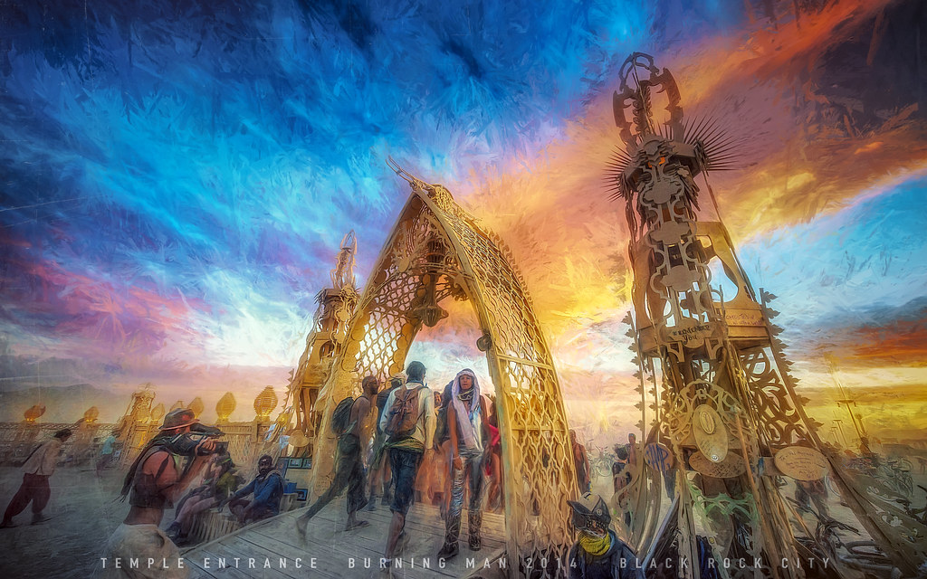 Burning Man 2014 stylized