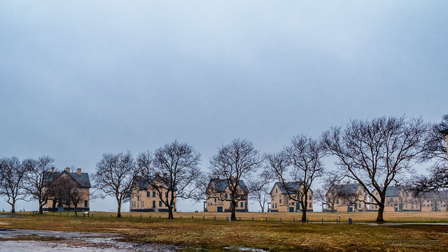 Officers row on a cold winter afternoon