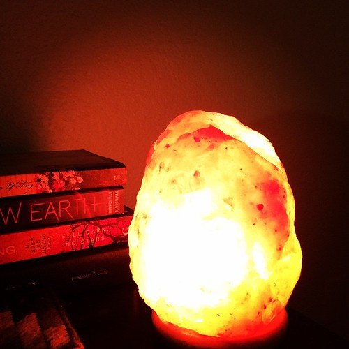 I love my Himalayan salt lamps. It gives off such a relaxing rose glow that's so relaxing for your eyes in the evening.