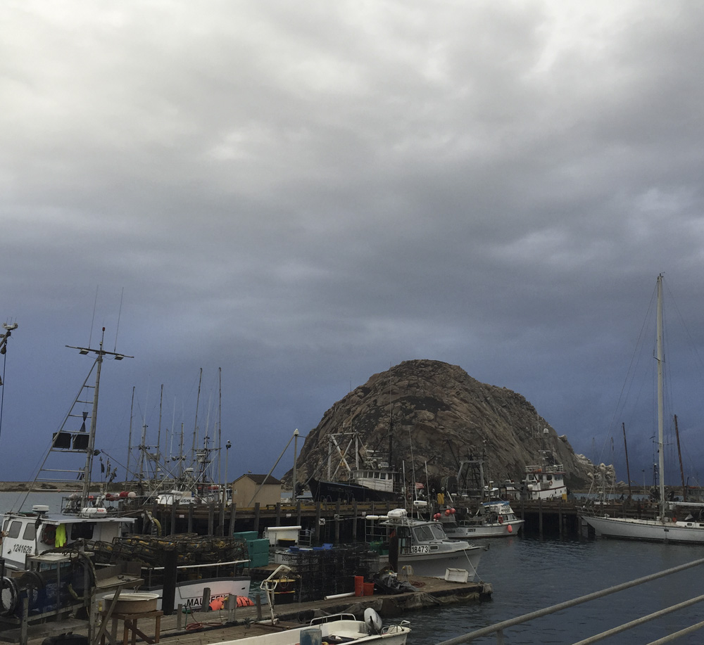 Morro Rock on a Cloudy Day