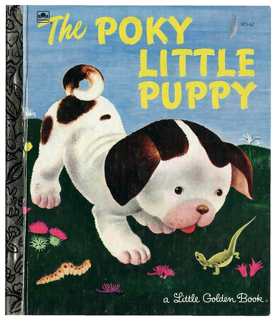 001a-portada-Poky Little Puppy- Little Golden Book-ilustrado por Tenggren