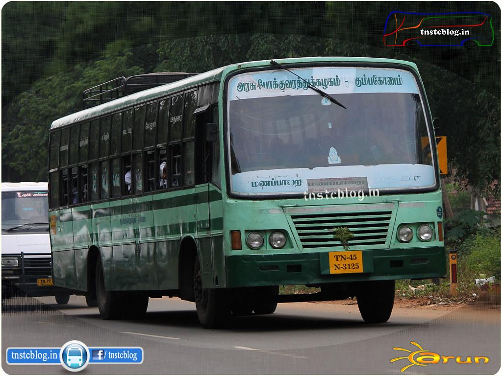 TN-45N-3125 of Manapparai Depot Route Manapparai - Madurai via Thuvarankurichi, Kottampatti, Melur.