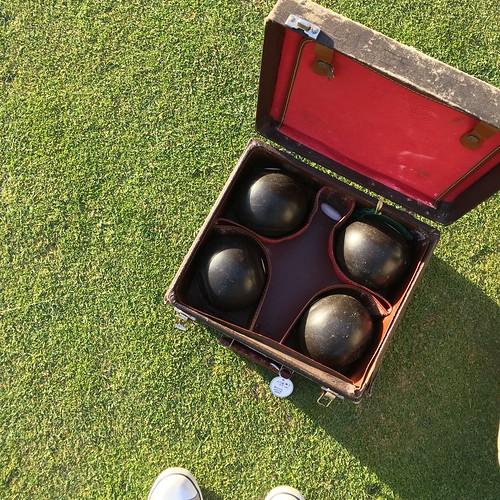 Lawn bowling boules