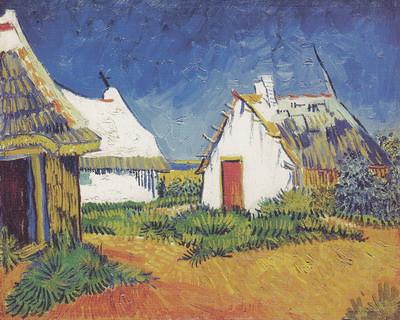 フィンセント・ファン・ゴッホ《サント=マリーの白い小屋》