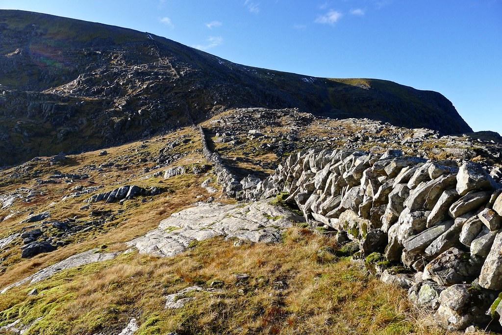 The famous Beinn Dearg dry stone wall