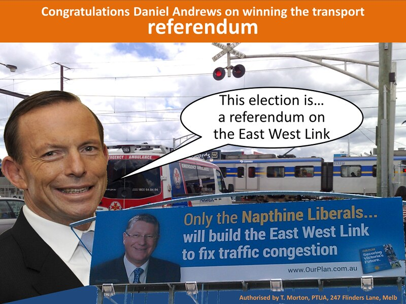 State election 2014: Transport referendum