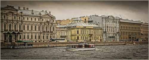 cruise buildings river stpetersburg boat russia