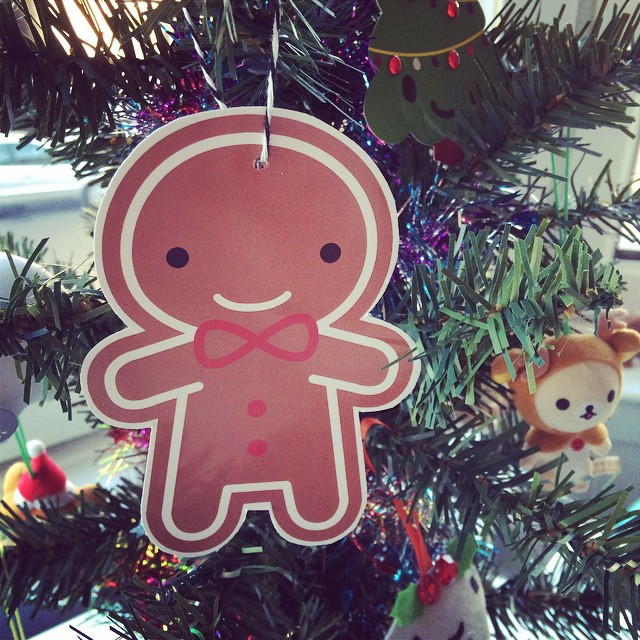 Updated cookie ornament postcards are in the shop, and on my tree!