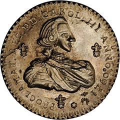 Lot 1032. MEXICO. Valladolid de Michoacan. Silver Proclamation Medal, 1760 obverse
