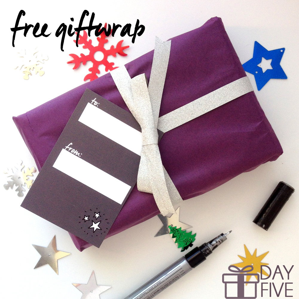 day 5 free giftwrap