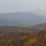 Fog covering hills