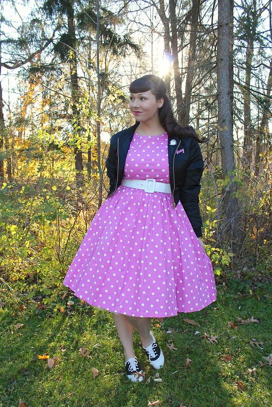 lindy bop polka dot dress