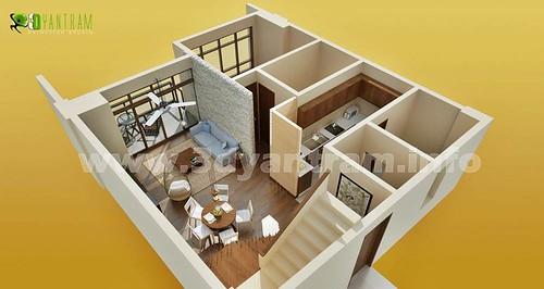 3D Room Floor Plan Design