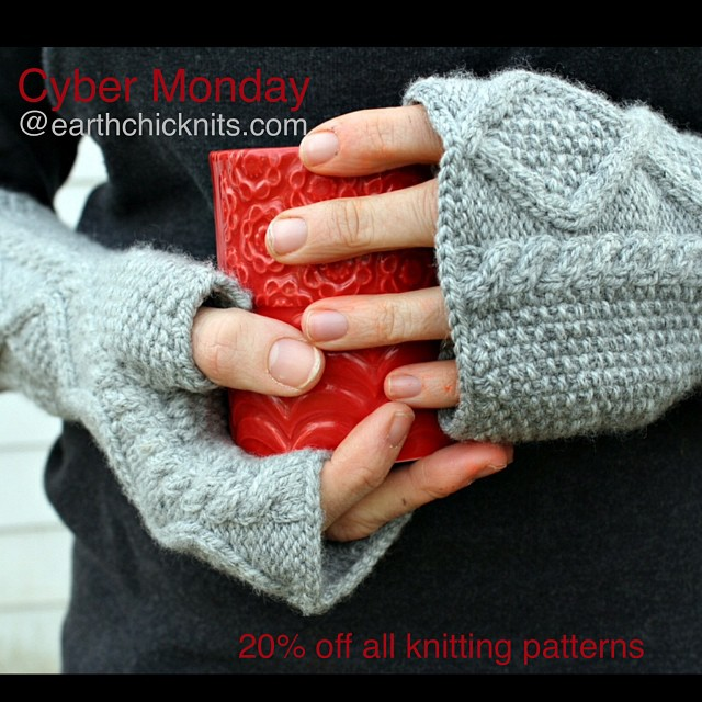 Cyber Monday sale, no code required #earthchicknits #cybermonday #knitting #knittingpatterns
